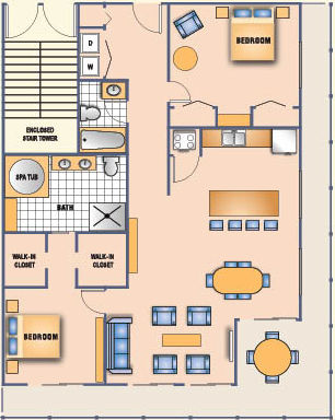 [Floor Plan for 1310sq. ft. Condo]