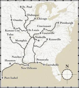 [map of US waterways]